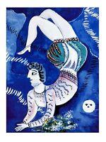 Marc Chagall Acrobat Poster Kunstdruck Bild 71x56cm
