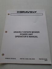 Original Gravely ~ Estate Mower Power Unit Operator's Manual ~ 53218(6-92)