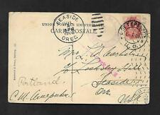 POST CARD-RUSSIA-FINLAND TERIJOKI 1908 POST CARD to SEASIDE OREGON-SCARCE CANCEL