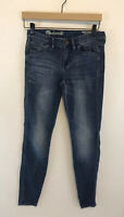 Madewell Skinny Skinny Ankle Jeans Medium Blue Wash Womens Size 24 Inseam 29