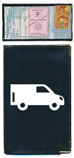 Pochette Etui Porte Carte Grise voiture  papier voiture Camion noir souple