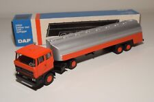 W 1:50 LION CAR DAF 2800 TRUCK WITH TANKER TANK TRAILER ORANGE GREY MINT BOXED