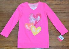 Jumping Beans Hot Pink Long Sleeve Top Size 6X Love Heart MSRP $20