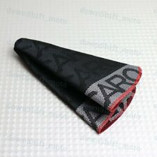JDM RECARO Racing Hyper Fabric shift knob Shifter Boot Cover MT/AT Red Stitches