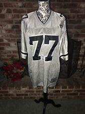 Men's #77 Lowrider Jersey Size Large L Gray & Black Short Sleeve V-Neck Pullover
