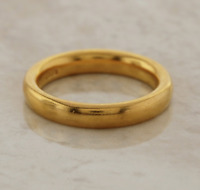 Victorian Wedding Band Ring 22ct Yellow Gold Size M