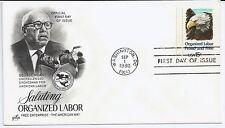 US Scott #1831, First Day Cover 9/1/80 Washington Single Organized Labor