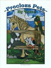 Precious Pets Stained Glass Pattern Book, Horse, Bunny, Goldfish, Froggie, ....