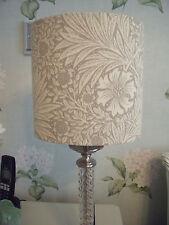 Handmade Drum Lampshade Oval 20cm William Morris & Co Marigold linen Fabric