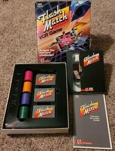 Flash Match VCR Game 1986 by Mattel Games VHS Format Sealed Vintage Mint