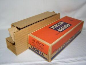 "****** ""RARE"" POSTWAR LIONEL #2046W PENNSYLVANIA RAILROAD TENDER BOX ******"