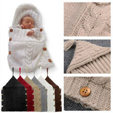 Newborn Baby Infant Swaddle Wrap Blanket Sleeping Bag Knitted Hooded Sleepsacks