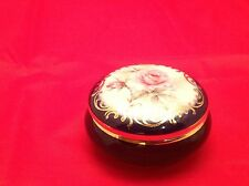 Trinket Box Limoges France Cobalt Blue Rehausse Main Stunning Porcelain
