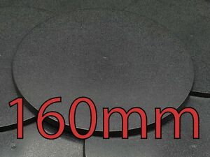 160mm x1 pc Round Plain Plastic Bases Warhammer AOS Infinity Brand New