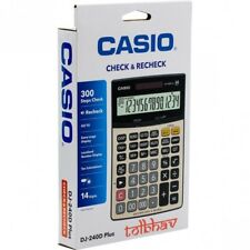 Casio DJ-240D Plus Desk Office Business Calculator Desktop Big Size 14 Digits