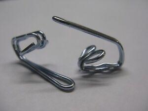 SILVER CURTAIN HOOKS x 100 NEW SOLID METAL STEEL HEADER TAPE PENCIL PLEAT RAILS