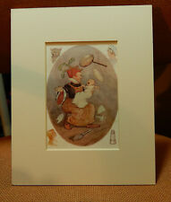 VINTAGE   ALICE IN WONDERLAND  BOOK PRINT OF  DUCHESS AND THE BABY,  .WITH MOUNT