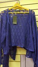 Plus Sizes Ladies Blue Open Front Lace Bolero Size 22
