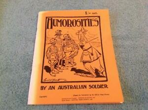 Humorosities by and Australian Soldier By Cecil L. Hart Book Reprint