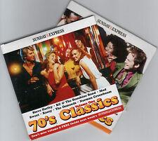 70s CLASSICS: PROMO 2 CD SET - SWEET, MUD, BACCARA, STEVE HARLEY, OSMONDS ETC