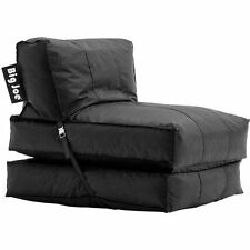Bean Bag Flip Lounger Sofa Couch Stuffed Black Home Bedroom Gaming Chair Dorm