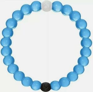 NWT Lokai Cause Collection Water Lokai Silicone Bead Bracelet Blue Size Large