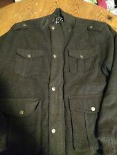 Mens XL Karl Kani Wool Blend Charcoal Coat Mens XL