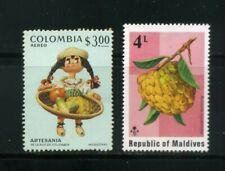 ANNON,PITAYHA-FRUITS OF COLOMBIA,- MALDIVES,-   MNH