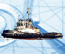 MODEL BOAT PLANS 1:50 SCALE TUG BOAT FULL SIZE PRINTED PLANS & BUILDING NOTES