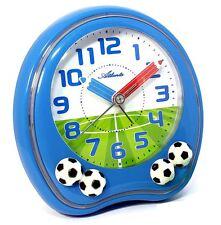 Kinderwecker Fußball Wecker Blau Jungen Ohne Ticken Einschulung - Atlanta 1719-5