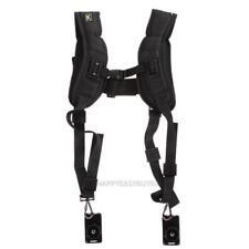 Quick Rapid Double Shoulder Sling Belt Strap for 2 DSLR Digital SLR Camera Black