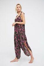 New Free People El Porto Romper Jumpsuit Raspberry Floral Sz  XS - Oversized