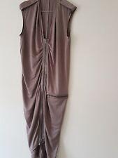 Joseph: Slinky Taupe Silk Jersey Dress