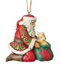 Enesco Jim Shore Heartwood Creek Santa with Puppy Ornament Nib 6003358