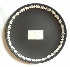 Boxed Wedgwood St George and The Dragon Stamp Design Plate - Black Jasperware