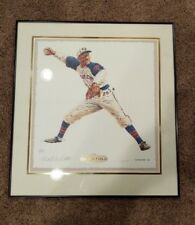 Negro League Framed Matted SATCHEL PAIGE Signed Artist Proof Print BEAUTIFUL