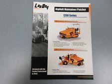 Leeboy 1200 Asphalt Maintainer Color Sales Brochure 4 Pages