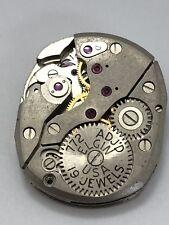 1960 Elgin 772 Mens Watch Movement 19 Jewel, Not Complete 4Parts
