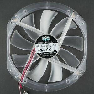 Cooler Master | 230x200mm Refurbished Clear 3-Pin + Switch Fan, Blue LED