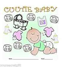 Baby Shower Juego-cuutie Bebé - ¡ Tira los dados para recoger artículos de bebé
