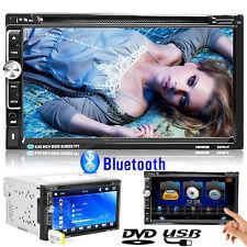 "7"" HD 2 DIN In-Dash DVD/CD/MP3 Car Stereo Radio w/USB/AUX/TF 4G ROM Touchscreen"