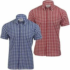 Mens Original Brutus Trimfit Button Down Shirt Large Gingham Check