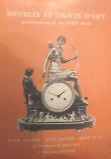 1976 Catalogue de Vente DROUOT RIVE-GAUCHE MEUBLES OBJETS D'ART XVIIIè DELORME