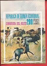 Der wilde Westen Indianer jagen Büffel Block 127 Äquatorialguinea