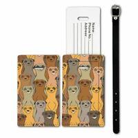 Luggage Suitcase Baggage Tag Cute Meerkat Pattern - S8833