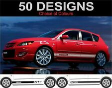 Mazda 3 Side Stripe Decals Autocollants Graphique Mazda MPS Decal 2 off