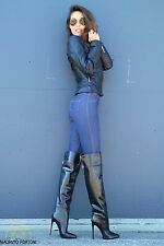 NEW! -900€- MAURIZIO PORTONI Designer over knee thigh Boots EU36/37/38/40