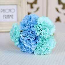 1 Bunch CARNATIONS 6 Stem Silk Wedding Flowers Bouquets Centerpieces Decor#2