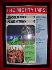 Lincoln City 1 Ipswich Town 0 - 2017 FA Cup - framed print