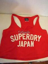 NWOT SUPERDRY JAPAN CROP RACERBACK TOP LARGE